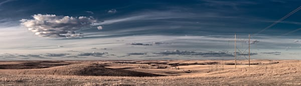 Power and Light, the Kansas Flint Hills - color