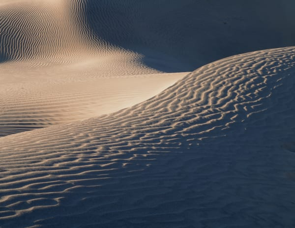 Wind swept sand dunes in Death Valley National Park