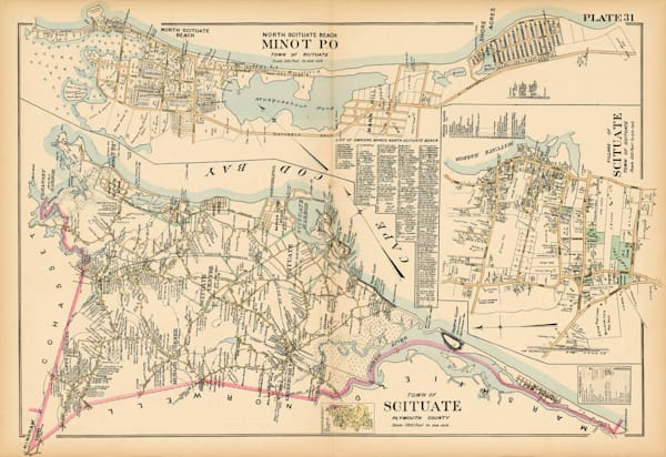 Scituate Town Map 1903