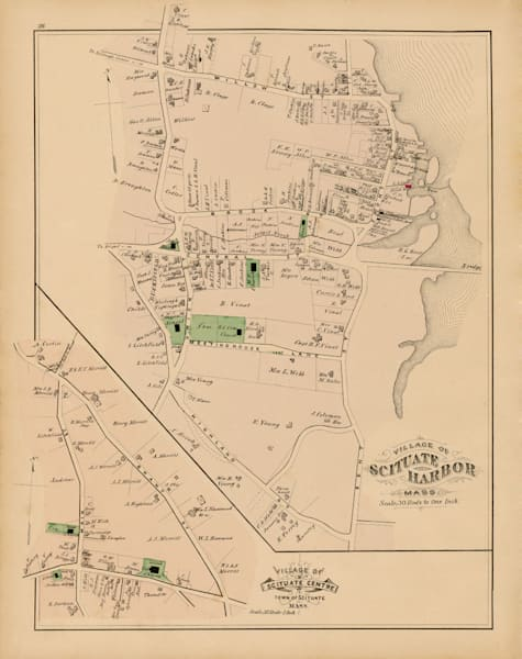 Scituate Harbor Map 1879