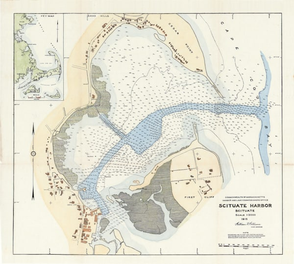 Scituate Harbor Nautical Chart 1915