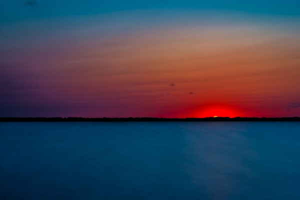 Virginia Beach Back Bay Sunset Fine Art Photograph | JustBob Images