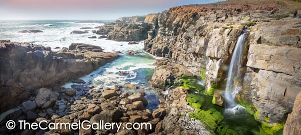 Seaside Waterfall Sonoma Coast Art by Carmel Gallery