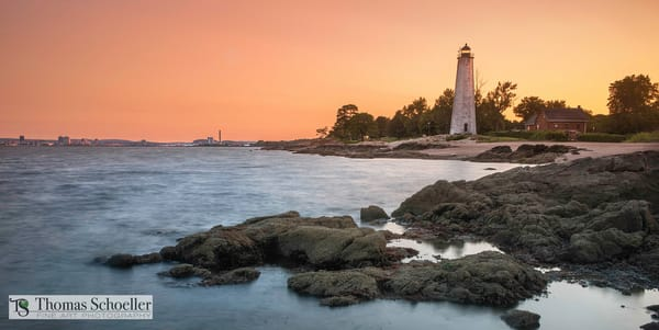Nautical inspired Connecticut seascape art prints/Five Mile Point Lighthouse wall decor prints