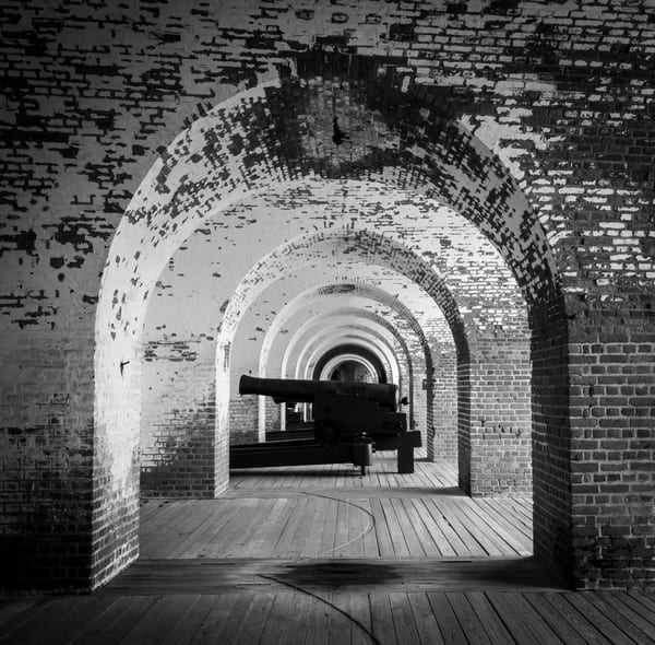 Fort Pulaski Inside View of Cannon