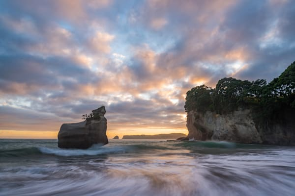 Cathedral Cove Sunrise Photography Art | Kokanee Camera and Nelson Fine Art Printing