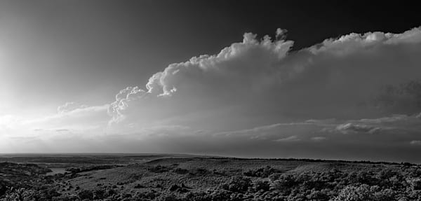 Flint Hills Overlook on Highway 177 - bw