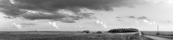 Back Road, the Kansas Flint Hills - bw