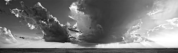 Storm in the East, the Kansas Flint Hills - bw