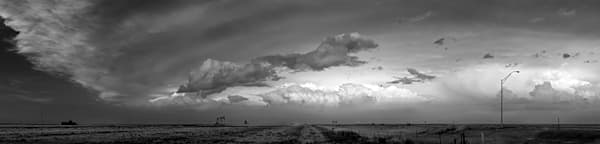 Panoramas, the wide view collection: Cloudscape, western Kansas, by artist and photographer, David Zlotky