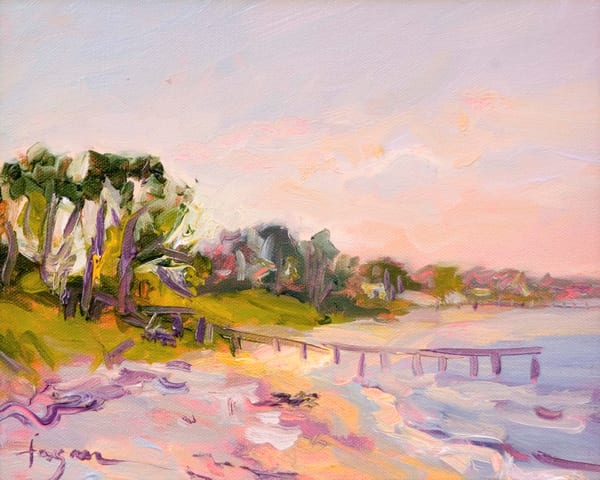 By the Water's Edge   Sunrise Beach Painting & Print