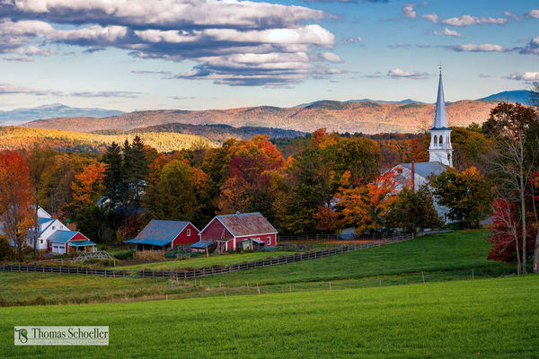 The classic overlook of Peacham Vermont available as fine art prints