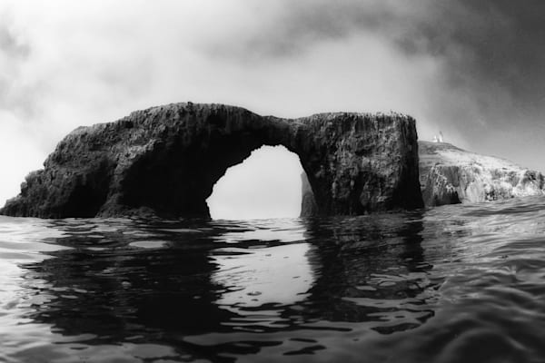 Anacapa Arch (black and white)