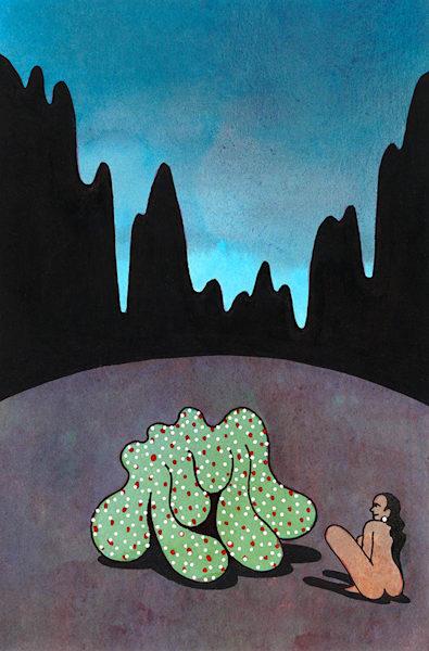 Nude Green Blobs