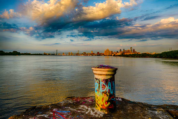 Philly Skyline from Graffiti Site Fine Art Photograph | JustBob Images
