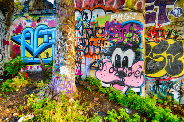Wall of Graffiti #2 Fine Art Photograph | JustBob Images