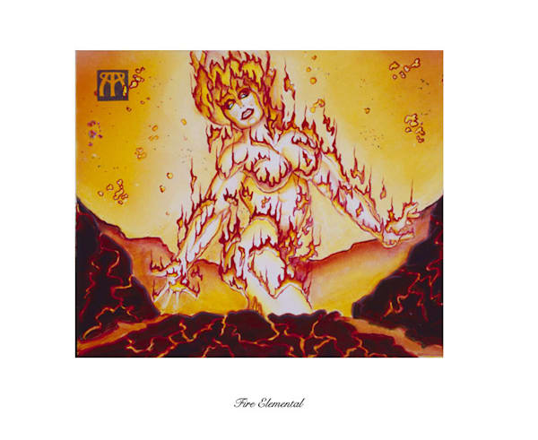 Fire Elemental Magic the Gathering limited edition print