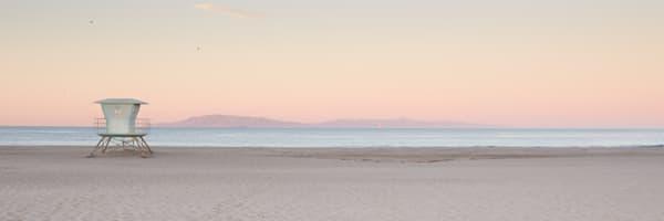 Lifeguard Sunrise Panoramic Crop