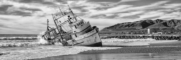 """Washed Up B&W"" - Panoramic"