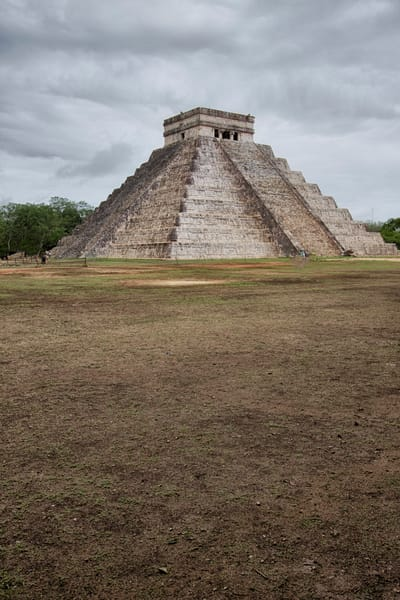 Fine Art Photograph of Cloudy Chichen Itza by Michael Pucciarelli