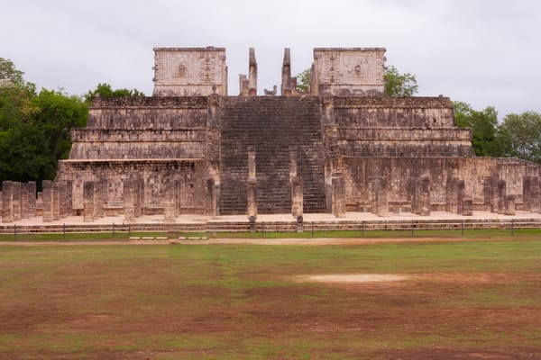 Fine Art Photograph of Chichen Itza Fort by Michael Pucciarelli