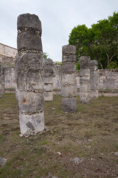 Fine Art Photographs of Columns of Chichen Itza 