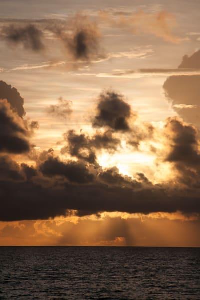 Sunrise Golden Coastline Tulum Mexico Yucatan