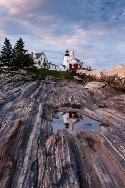 Lighthouse Wall Art: Pemaquid Reflections