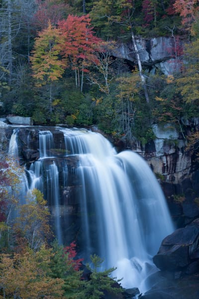 Waterfall Wall Art: Autumn at Whitewater Falls