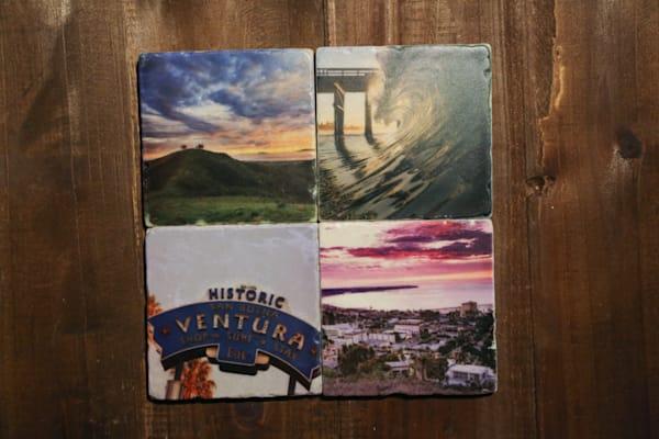 """Ventura""  4""x4"" Stone Coaster Set"