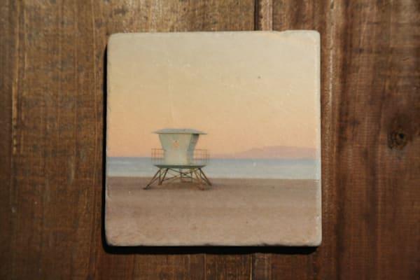 """""""Beach"""" 4x4 Stone Coaster Set"""