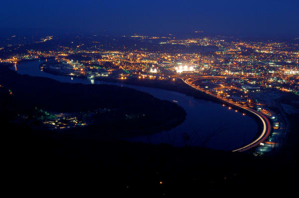 Night view of Chattanooga from Lookout Mountain