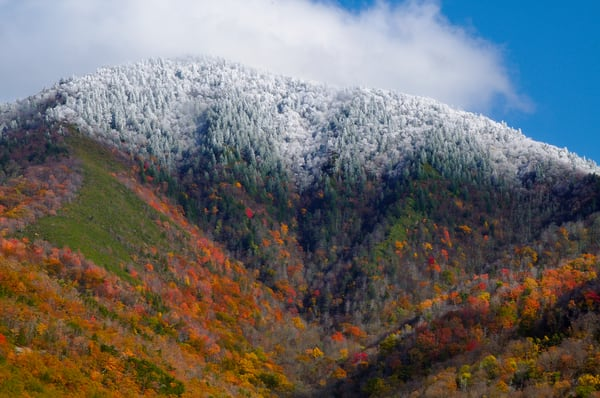 Snow-capped Mount Le Conte