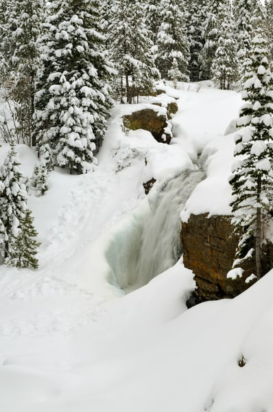 Alberta Falls in Winter