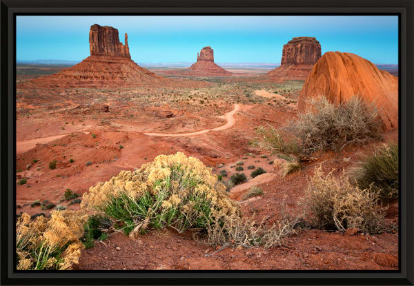 Monument Valley Dusk (161393LNND8) Photograph for Sale as Framed Metal Print