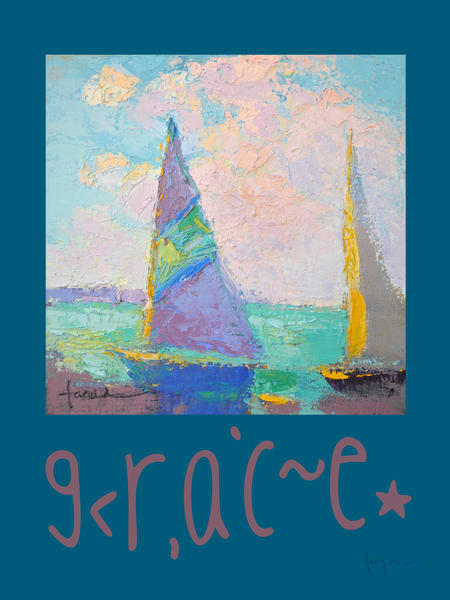 Grace Wall Graphic | Sailboats & Clouds