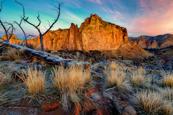 Rock Wall Sunrise (131039LNND8) Smith Rock State Park Photograph for Sale as Fine Art Print