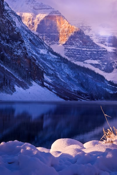 Lake Louise and Mt. Lefroy. Canadian Rockies|Banff National Park|Rocky Mountains|