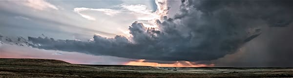 Storm Over the Ridge, the Kansas Flint Hills - color