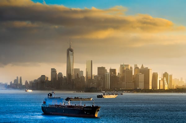 Manhattan Skyline Sunrise Photograph for Sale as Fine Art.