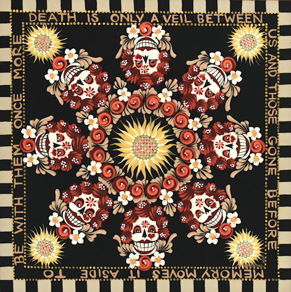 Day of the Dead Mandala by Shelly Bedsaul
