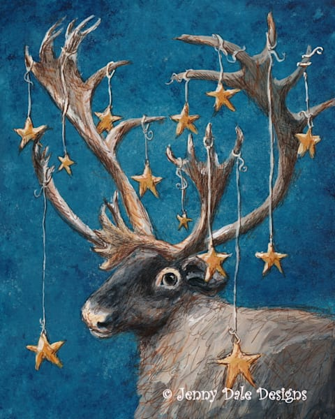 Reindeer Caribou and Stars