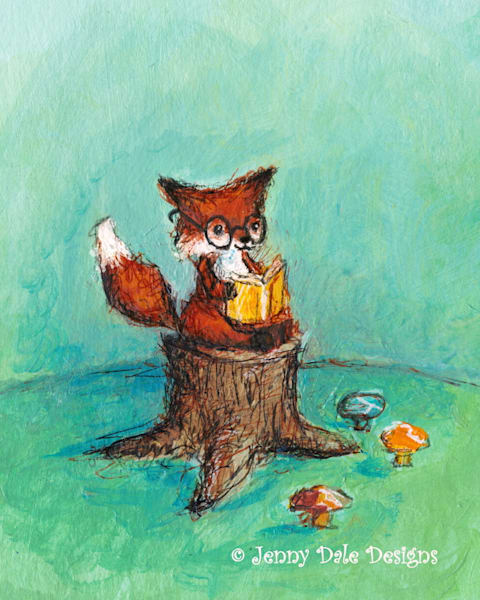 A Fox's Tale: Cute Fox with Glasses