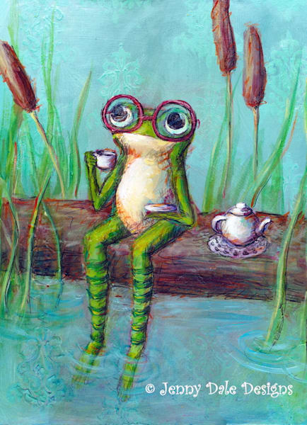 Froggy's Tea Time Art   Jenny Dale Designs
