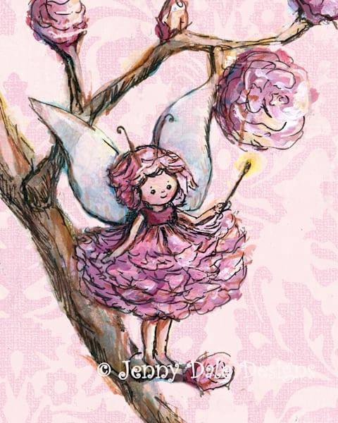 Pink Woodland Fairy Art | Jenny Dale Designs