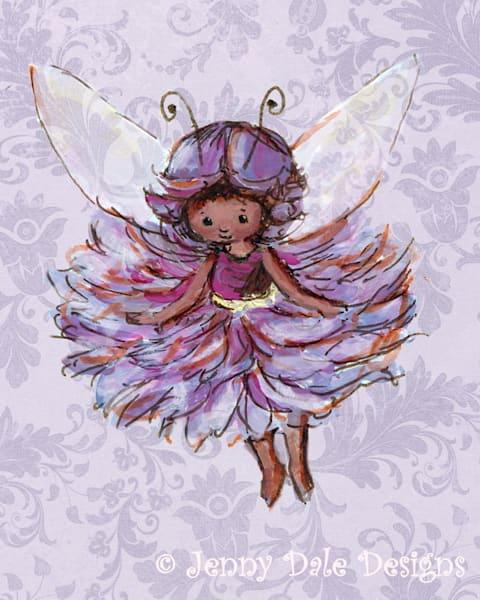 Purple Woodland Fairy Art by jennydaledesigns