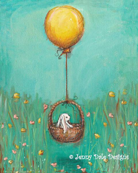 Bunny In A Basket Art by jennydaledesigns