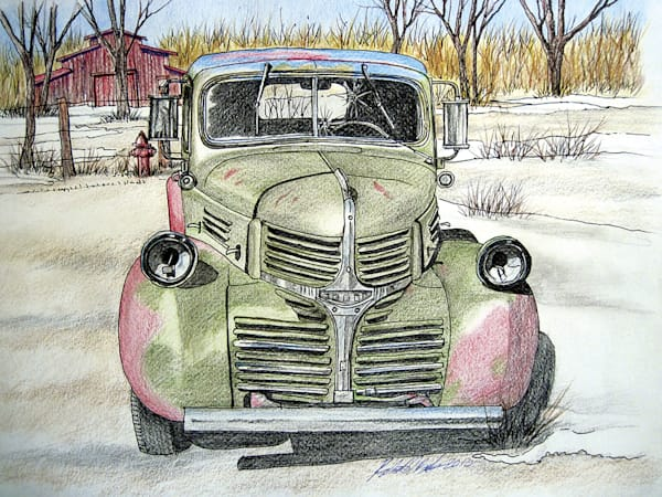 Green Truck Taos Art | Fine Art New Mexico