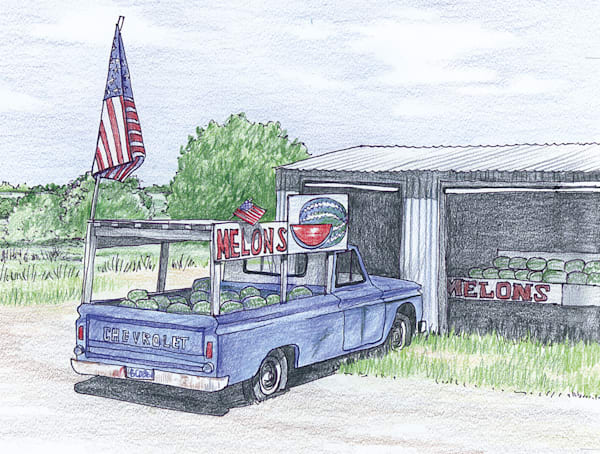Truck, Happy 4th, Hedley, Texas Art | Fine Art New Mexico