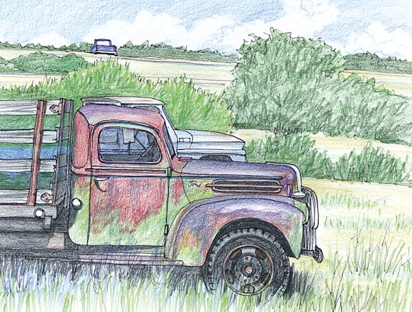 Trucks Near Espanola, New Mexico Art | Fine Art New Mexico